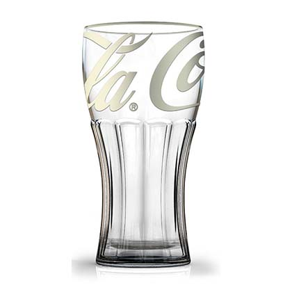 COCA-COLA Platinum Print 12 Oz Glass