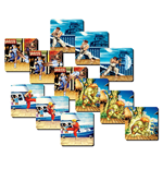 Street Fighter Lenticular Coaster 4-Pack Team