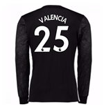 2017-18 Man Utd Away Long Sleeve (Valencia 25)