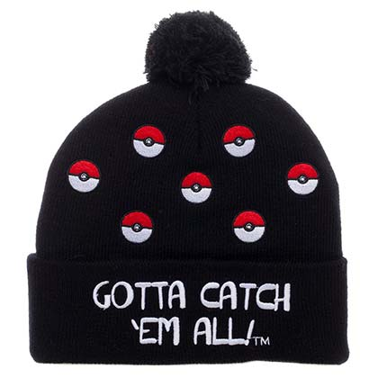 POKEMON Pokeball PomPom Winter Beanie Hat