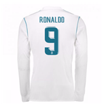 2017-18 Real Madrid Long Sleeve Home Shirt (Ronaldo 9)