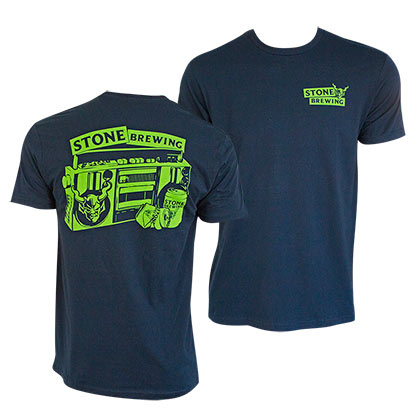 STONE BREWING CO. Beers For Your Block Navy Blue Tee Shirt