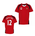 Official Man United Training T-Shirt (Red) (Smalling 12)