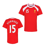 Official Liverpool Training T-Shirt (Red) (Sturridge 15)