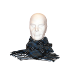 Free Authority - Blue/Grey Plaid Woven Scarf