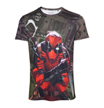 MARVEL COMICS Deadpool Men's Dollar Bills T-Shirt, Small, Multi-colour