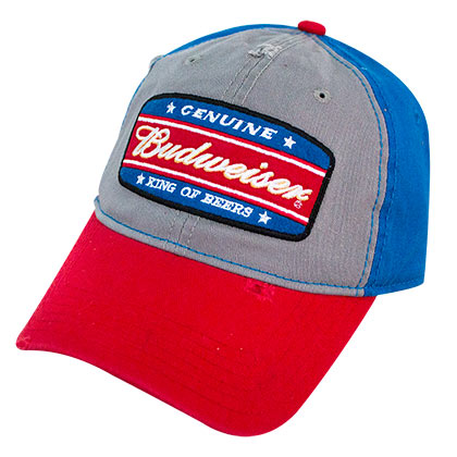 9bd5c51276d BUDWEISER King Of Beers Garnet Wash Snapback Hat