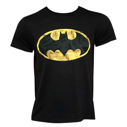 BATMAN Classic Logo 30 Single Super Soft Black Tee Shirt