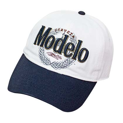 Modelo White Wreath Logo Strap Back Hat