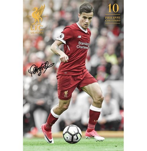 Liverpool - Coutinho 17/18 Maxi Poster (61x91,5 Cm)