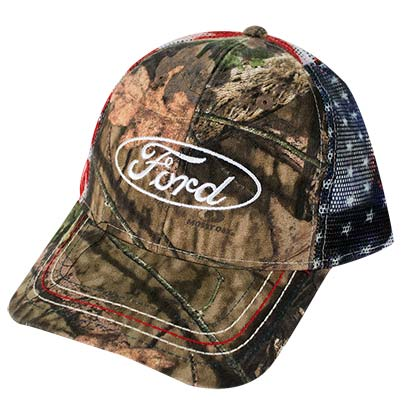 Ford American Flag Mesh Camo Hat