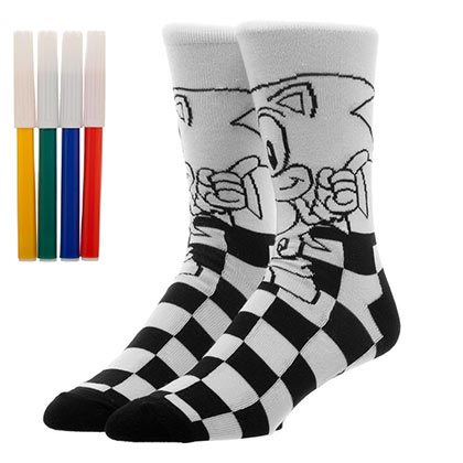 Sonic Color Yourself Socks