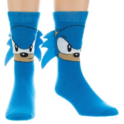 Sonic Men's Blue Socks With Quills