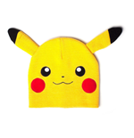 POKEMON Pikachu Cuffless Beanie with Ears, One Size, Yellow