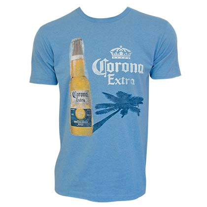 CORONA EXTRA Palm Shadow Blue Tee Shirt