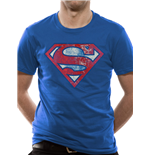 Superman - Logo Very Distressed - Unisex T-shirt Blue