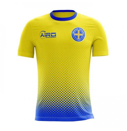 2018-2019 Sweden Home Concept Football Shirt (Kids)