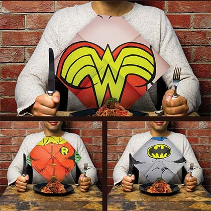 DC Comics JUSTICE LEAGUE Bib Napkins