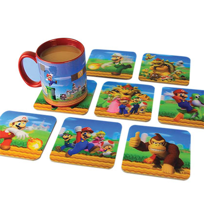 Super MARIO Bros. 3D Coaster Set