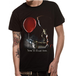 It - Pennywise Red Baloon - Unisex T-shirt Black