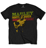 Bob Marley Men's Tee: Roots, Rock, Reggae