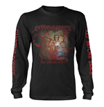Cannibal Corpse Long Sleeves T-shirt Red Before Black