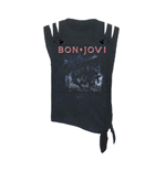 Bon Jovi T-shirt Slippery When Wet (acid WASH/CUT)