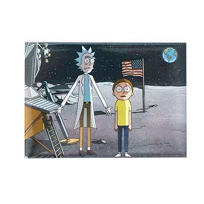 Rick And Morty On The Moon Magnet