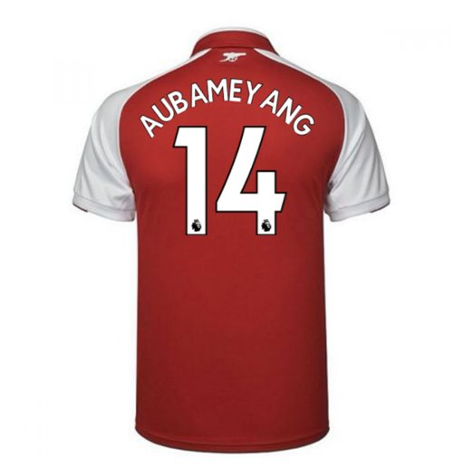 2017-18 Arsenal Home Shirt - Kids (Aubameyang 14)