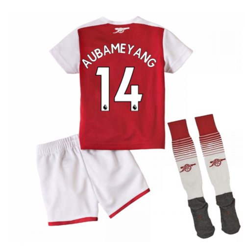 2017-18 Arsenal Home Mini Kit (Aubameyang 14)