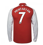 2017-18 Arsenal Home Long Sleeve Shirt - Kids (Mkhitaryan 7)