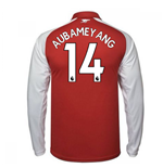 2017-18 Arsenal Home Long Sleeve Shirt - Kids (Aubameyang 14)