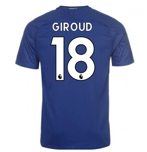 2017-18 Chelsea Home Shirt (Giroud 18)