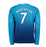 2017-2018 Arsenal Away Long Sleeve Shirt (Mkhitaryan 7) - Kids