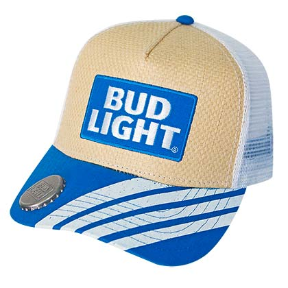 BUD LIGHT Adjustable Straw Bottle Opener Hat
