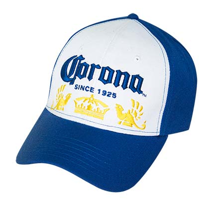 Corona Blue and White Baseball Hat