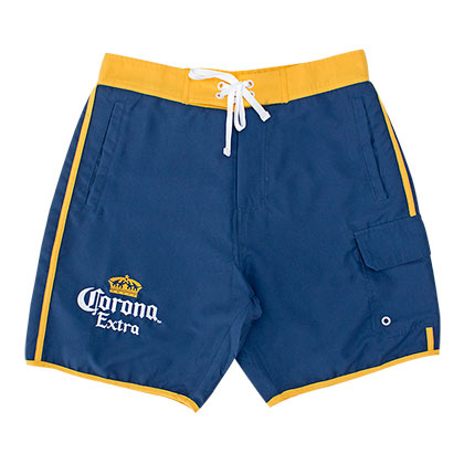 CORONA EXTRA Gold Stripe Men's Board Shorts
