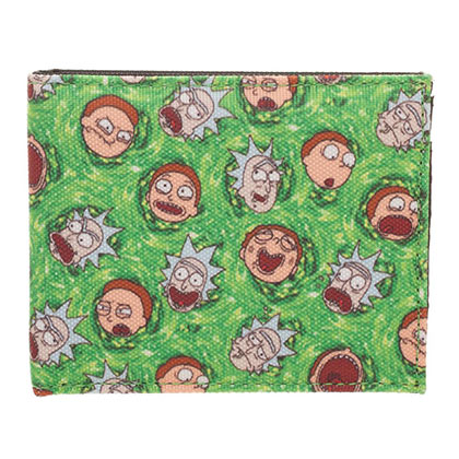 Rick And Morty Faces Wallet