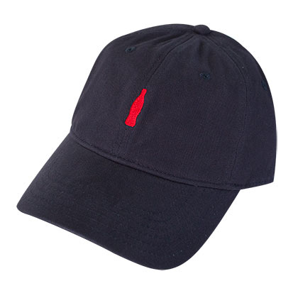 COCA-COLA Navy Blue Bottle Logo Dad Hat