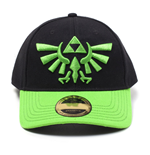 NINTENDO Legend of Zelda Embroidered Green Hyrule Crest Logo Curved Bill Baseball Cap, Black/Green