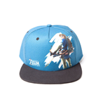 NINTENDO Legend of Zelda Breath of the Wild Link Character with Bow Snapback Baseball Cap, Blue/Grey