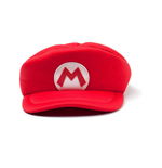 NINTENDO Super Mario Bros. Kids Mario Logo Curved Hat, Red