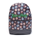 RICK AND MORTY Logo and Big Faces Backpack, Multi-colour