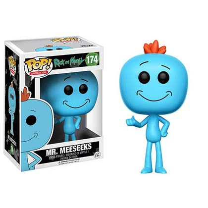 Funko Pop Rick And Morty Mr. Meeseeks Bobble Head