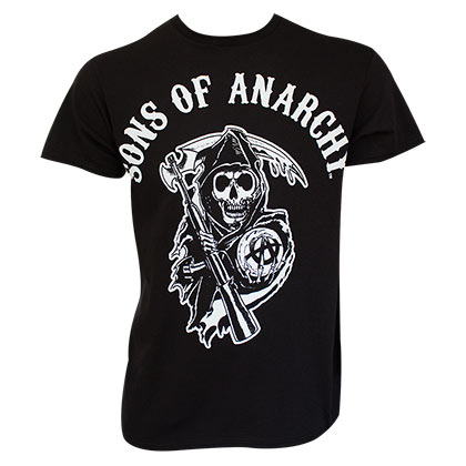 SONS OF ANARCHY Classic Reaper Logo Black Tee Shirt