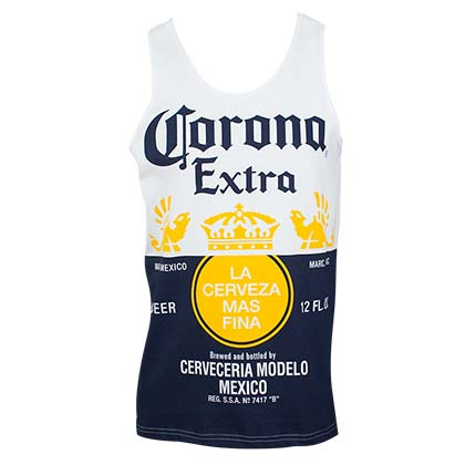 CORONA EXTRA Bottle Label Men's Tank Top