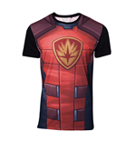 MARVEL COMICS Guardians of the Galaxy Men's Rocket Raccoon Sublimation T-Shirt, Small, Multi-colour
