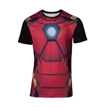 MARVEL COMICS Iron Man Men's Suit Sublimation T-Shirt, Small, Multi-colour