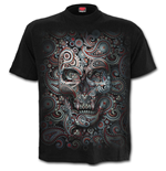 Skull Illusion - Front Print T-Shirt Black