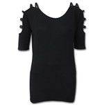 Gothic Elegance - Ladder - Strap Shoulder Top